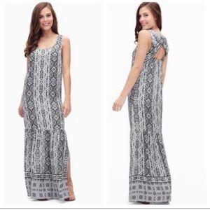 Splendid Taos Print Bohemian Maxi Dress Small